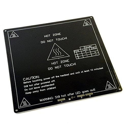 [RepRap Champion New Improved MK3 Aluminum RepRap 3D Printer Prusa i3 Heated Hot Bed Build Plate] (Aluminum Bed)