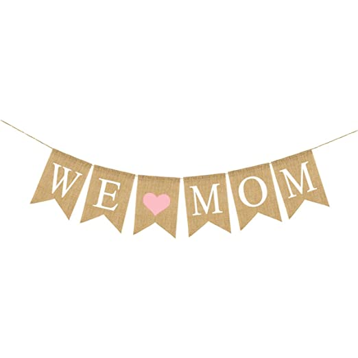 Amosfun We Love Mom Banner Día de la Madre Fiesta de ...