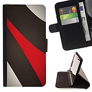 DEVIL CASE - FOR Sony Xperia Z3 D6603 - Abstract Lines - Style PU Leather Case Wallet Flip Stand Flap Closure Cover