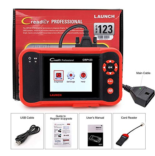 LAUNCH X431 Creader CRP123 Automotive Diagnostic Scan Tool OBD2 Auto Code Reader Support ENG/TCM/ABS/SRS System Code Reader with EL-50448 TPMS Activation Relearn Tool by LAUNCH (Image #7)