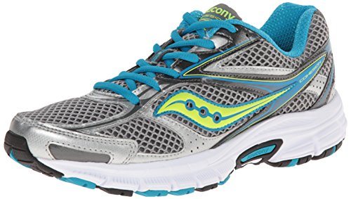 Saucony Women's Cohesion 8 Running Shoe, SIL/BLU/CTN, 2.5 - Northbridge Shops
