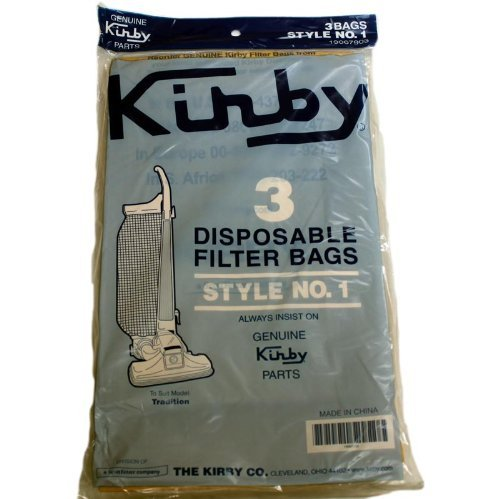 Kirby 190679S, 190679 3 Pack Tradition Upright Vacuum Cleaner Paper Bags Style 1 - 6 Windsor Chairs