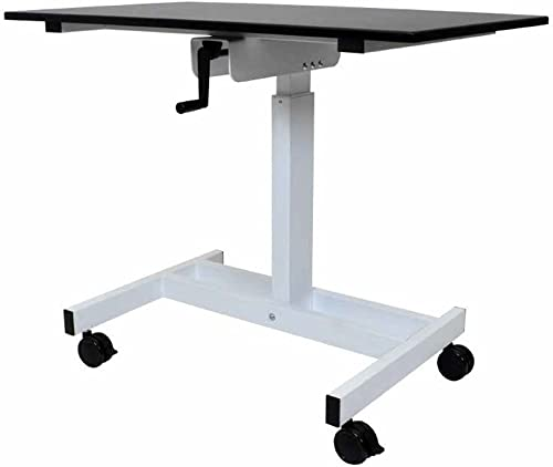 Luxor 40 Single Column Crank Stand Up Desk – 45.25 H x 39.37 W x 23.62 D