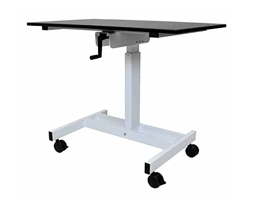 Luxor Single Column Crank Stand up Desk 23.625″D x 39.375″W x 30″ to 45.25″H