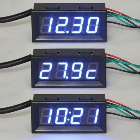 Prueba eléctrica RioRand metros reloj digital de coche voltios ...