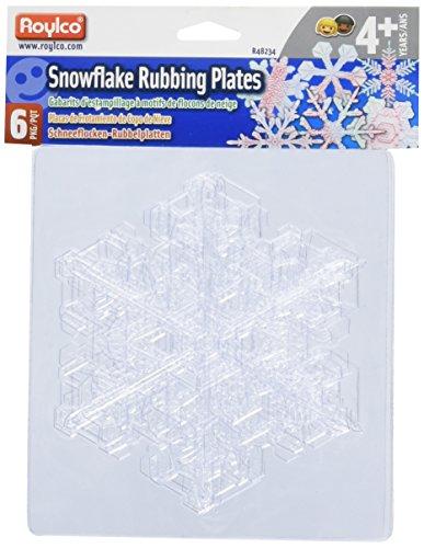 Roylco Snowflake Rubbing Plates by Roylco