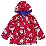 LZH Kids Girls Jacket Waterproof Outwear Raincoat Hoodies (6(for Age 5-6Y), Red)