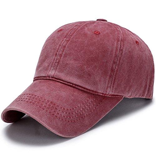 Lavado Sombrero Gorra Algodón Lady De Hombre Una Verano Cap Rojo Un Eyzr De Ocio De Pato Béisbol Lengua Viejo Hat Y HgqYv1xf