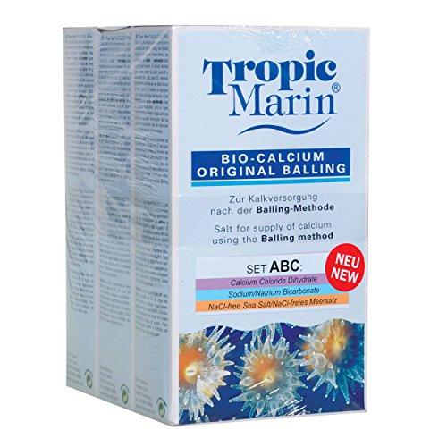 Tropic Marin 73206 Bio Calcium Original Balling Set (A+B+C), 3 x 1 kg - Tropic Marin Bio Calcium