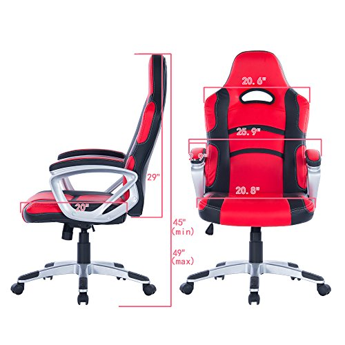 Killbee Ergonomic Swivel Executive Office Gaming Chair Height Adjustable,  With High Back Upholstered PU ...