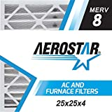 Aerostar 25x25x4 MERV 8, Pleated Air Filter, 25 x 25 x 4, Box of 6, Made in the USA