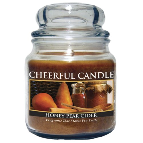 A Cheerful Giver Honey Pear Cider Jar Candle, (Honey Pear)