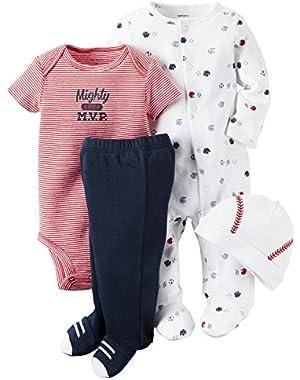 Carter's 4 Piece Sporty Sleep & Play Set Newborn