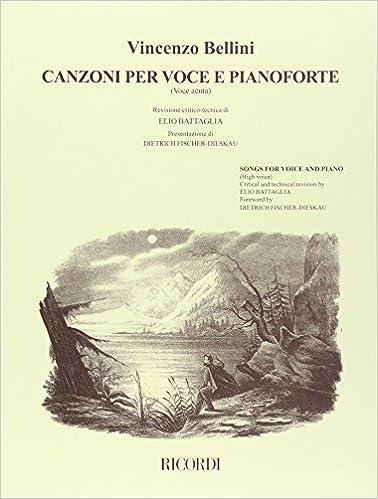 Canzoni per voce e pianoforte