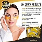 Under Eye Patches, 24K Gold Collagen Eye Mask, Dark Circles and Wrinkles Treatment, Anti-aging, Gel Pads for Puffiness and Bags, Immune System Support for Eyes, With Hyaluronic Acid, Deep Moisturizing