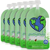 Healthy Planet Solutions Reusable Food Pouch Clear Plastic...