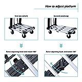 Foldable Push Cart Aluminum Alloy Platform Cart