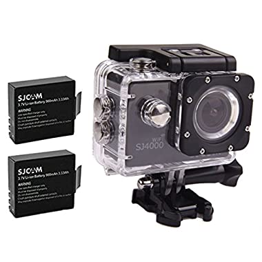 SJCAM Original SJ4000 WiFi Version Full HD 1080P 12MP Diving Bicycle Action Camera 30m Waterproof Car DVR Sports DV (Black)