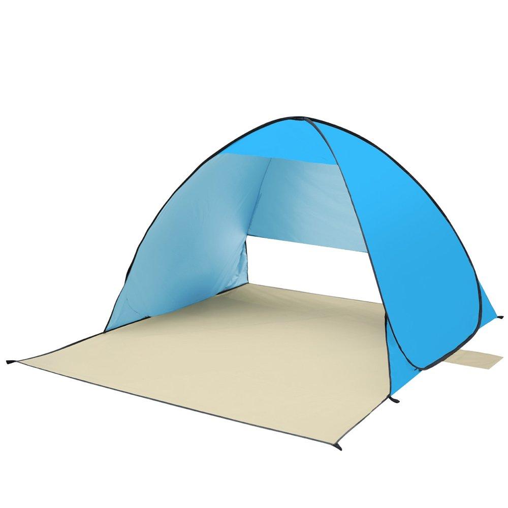 WENTAOWANG Sandy Beach Zelt Im Freien Automatische Schnelle Eröffnung Falten Double Man Angeln Zelte Wasserdicht UV-Beständig