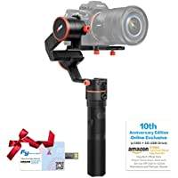 FeiyuTech a1000(10th Anniversary Edition) 3-Axis Gimbal, Compatible with NIKON/SONY/CANON Series DSLR Camera/GoPro Action Camera/Smartphone,1 KG Payload,Damping Sliding Arm,45 Degree Elevation Design