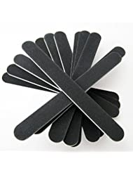 JOVANA 5 Double Sided Nail Files Emery Board Grit Black...