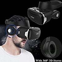 3D Virtual Reality Headset, Tsanglight VR Headset/Glasses with Built-in 3D Headphones for 4.5-6.0 Android/IOS for Samsung Galaxy S7 Edge S6, iPhone 7 6 6S Plus etc
