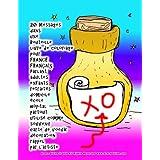 20 Messages dans une Bouteille livre de coloriage pour FRANCE FRANÇAIS Parlant adultes enfants retraités domicile école hôpital partout utilisé comme souvenir carte de voeux décoration rappel par l'artiste Grace Divine