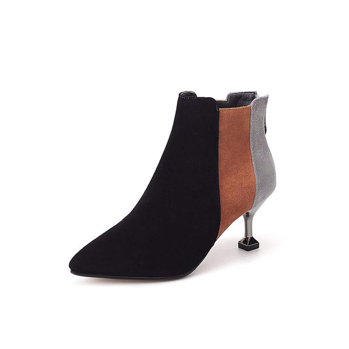 GTVERNH Frauen Schuhe/Martin Stiefel Herbst Mitte Mode Mode Scharfen Dünnen Und Mutter Schuhe.