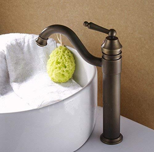 Willsego Küchenspülenarmaturen Traditionelle Garderobenwaschbecken Mischbatterie Waschtischarmatur Warm und Kalt Hoch Körper Spültischarmatur Messing (Farbe   -, Größe   -)
