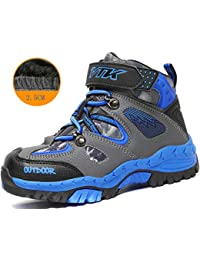 Kids Hiking Boots Boys Waterproof Snow Boots Hiking Shoes for Girl Sneaker