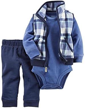 Carter's Baby Boys 3-Piece Plaid Vest Set 6 Months