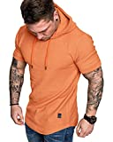 Mens Fashion Hoodies Sport Pullover Solid Color