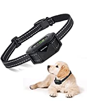 Dog Bark Collar Humane Anti Bark Collar, Rechargeable Training Collar with Beep, Vibration and Optional Shock, No Harm Dog Waterproof Shock Collar for Small, Medium, Large Dogs Breeds