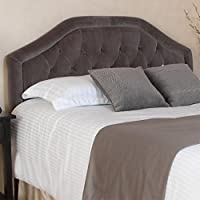 Celina Queen/Full Grey Suede Headboard