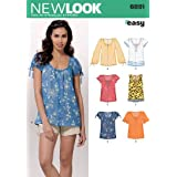 New Look Sewing Pattern 6891 Misses' Tops, Size A (10-12-14-16-18-20-22)