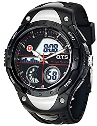 O.T.S Men Army Sport Digital Analog Dual Time Alarm Date Watch Original Design