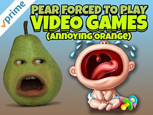 Clip: Pear Forced To Play Video Games (Annoying Orange)