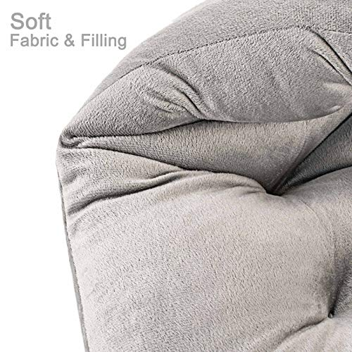Rocking Chair Cushions and Pads, Adirondack Chair Cushion, Back and Seat Cushion for Outdoor, Patio chair, Office chair, Desk chair, Dining chairs, Kitchen chair, Lounge chair (Grey, Flannel 1)