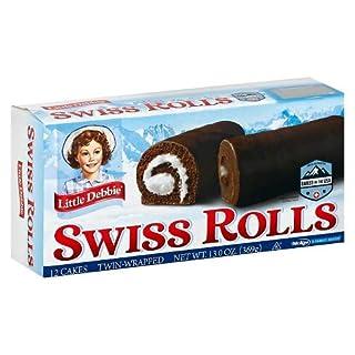 Little Debbie Swiss Rolls, 6 Boxes, 36 Twin Wrapped Cake Rolls, 13 oz Box