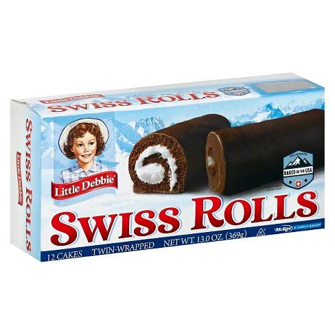 Little Debbie Swiss Rolls, 6 Boxes, 36 Twin Wrapped Cake Rolls, 13 oz Box