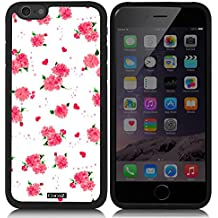 CocoZ? New Apple iPhone 6 s 4.7-inch Case Beautiful flower pattern TPU Material Case (Black TPU & Beautiful flower 12)