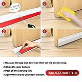 Suptikes 2 Pack Door Draft Stopper,Door Sweep for
