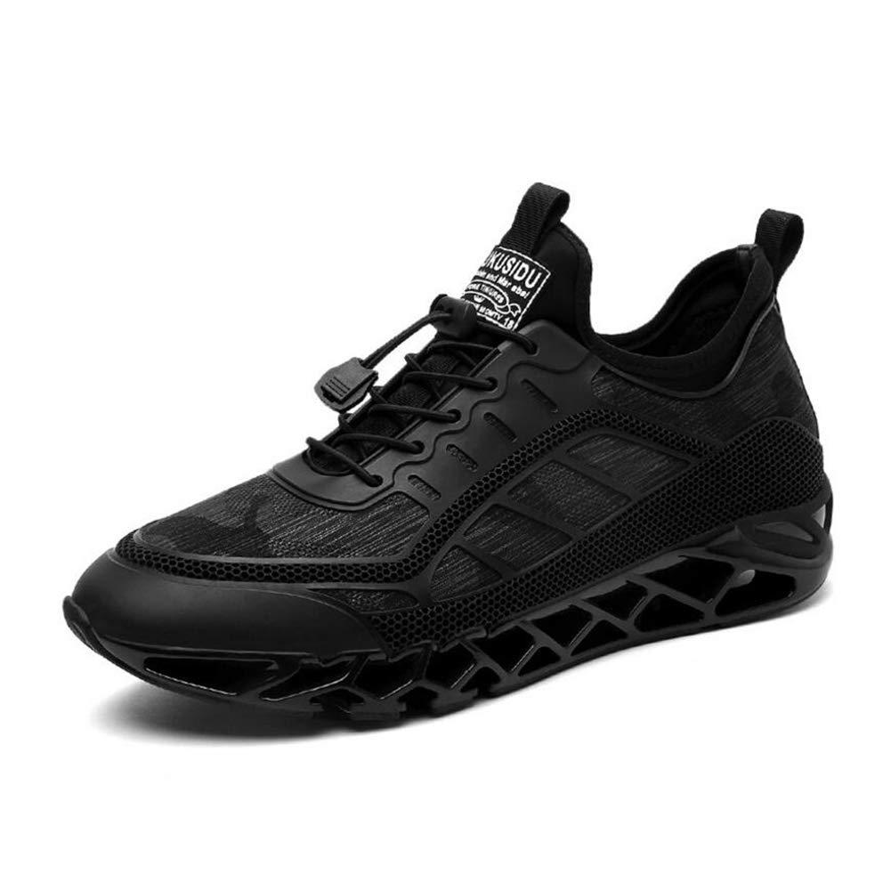YAXUAN herren Herren Turnschuhe Frühling Stoßdämpfung Rutschfeste Sportschuhe Herren atmungsaktive Trend Herren Schuhe Mode Casual Laufschuhe (Farbe   EIN Größe   40)