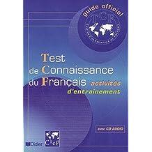 Test de connaissance du français TCF livre+cd