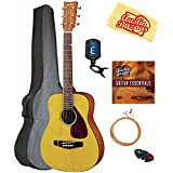 Yamaha JR1 3/4-Scale Acoustic Guitar Bundle with Gig Bag, Tuner, Strings, String Winder, Picks, and Austin Bazaar Polishing Cloth