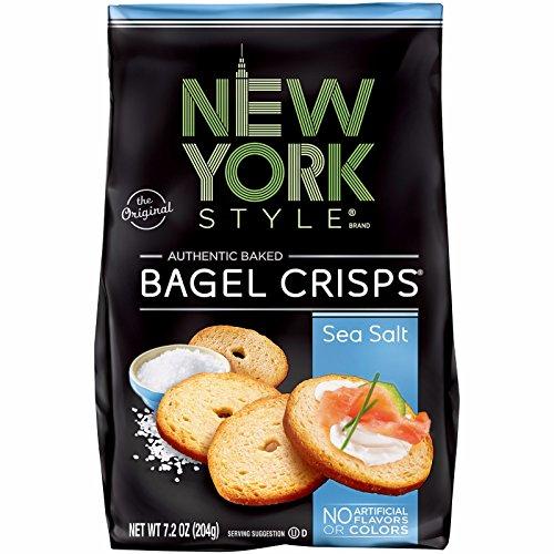 New York Style Bagel Crisps, Sea Salt, 7.2 oz