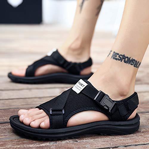 A1 noir Shukun Tongs Hommes Pantoufles Mode été pour Hommes Pantoufles Homme Sandales de Plage en Plein air Summer Word Drag