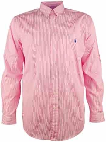 88868decb Ralph Lauren Men's Big & Tall Bengal Stripe Poplin Sport Long Sleeve Shirt