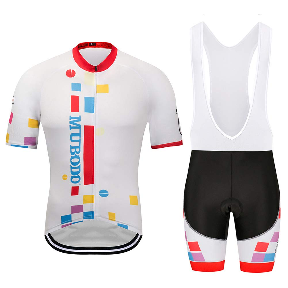 Ms Cycling Clothing Sets, Short Sleeves and 3D Gel pad Strap, Breathable QuickDry,Shorts for Cycling, Outdoor Cycling,XL