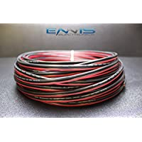 12 GAUGE 25 FT RED BLACK SPEAKER ZIP WIRE AWG CABLE POWER STRANDED COPPER CLAD BY ENNIS ELECTRONICS